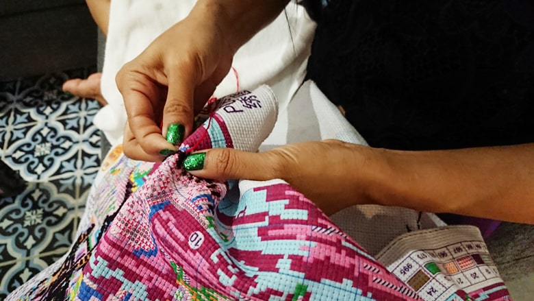 カンボジア シェムリアップの手芸